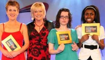 Sue Barker with short story winners